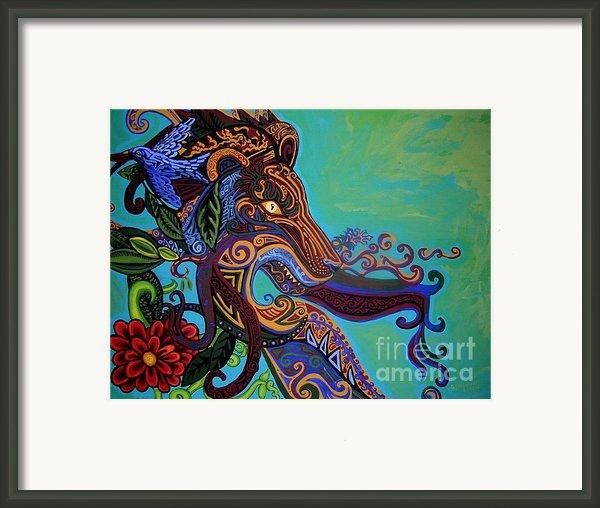 Lion Gargoyle Framed Print By Genevieve Esson