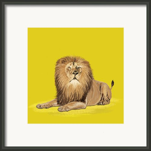 Lion Painting Framed Print By Setsiri Silapasuwanchai