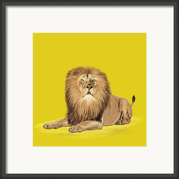 Lion Painting Framed Print By Setsiri Silapasuwanchai