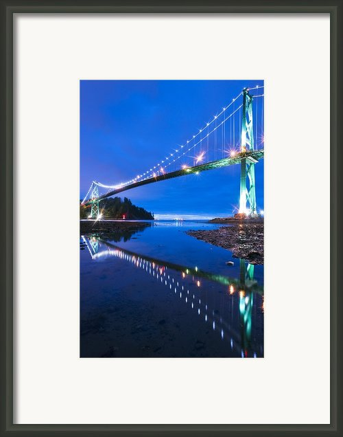 Lions Gate Bridge, Vancouver, Canada Framed Print By David Nunuk
