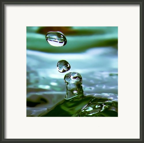 Liquid Emerald Framed Print By  Paul St George