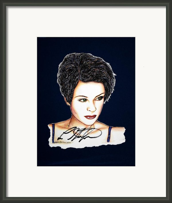 Lisa Standsfield Framed Print By Joseph Lawrence Vasile