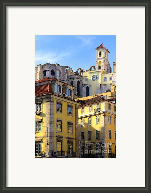 Lisbon Buildings Framed Print By Carlos Caetano