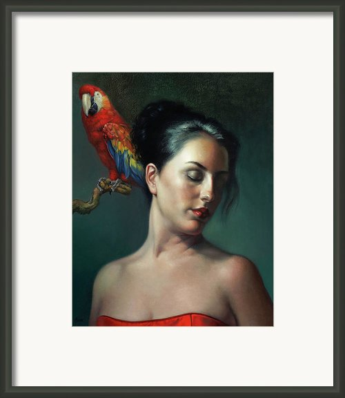 Listening To Music Framed Print By Lyndall Bass