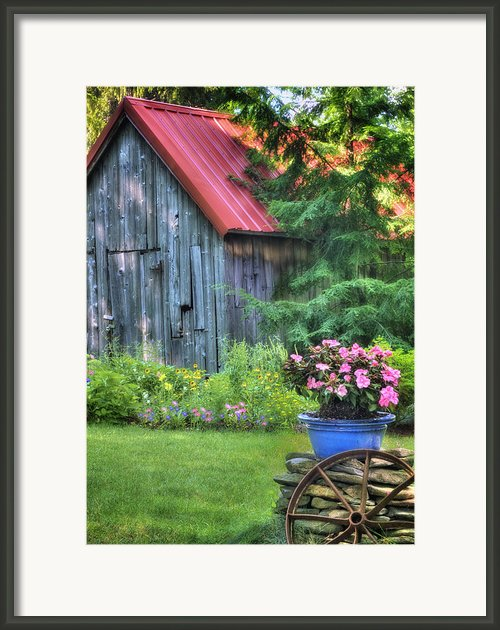 Litchfield Hills Summer Scene Framed Print By Thomas Schoeller