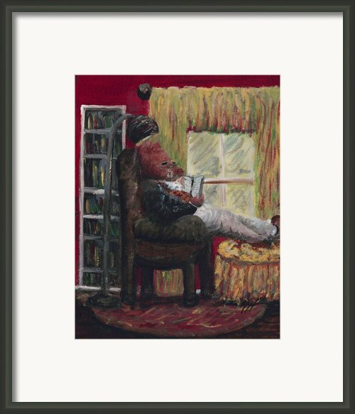 Literary Escape Framed Print By Nadine Rippelmeyer