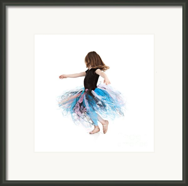 Little Ballerina Framed Print By Cindy Singleton