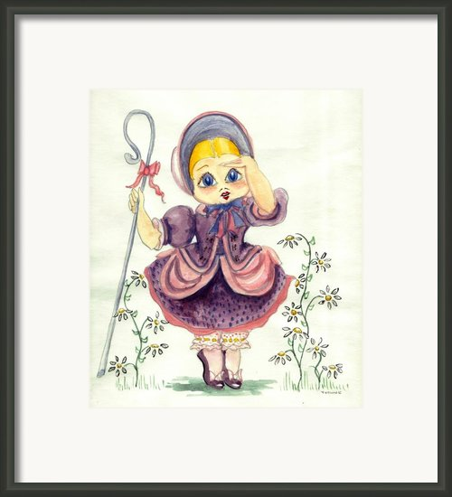 Little Bo Peep Framed Print By Yvonne Ayoub