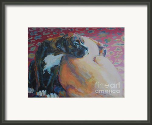 Little Brother Framed Print By Kimberly Santini