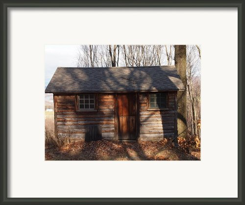 Little Cabin In The Woods Framed Print By Robert Margetts