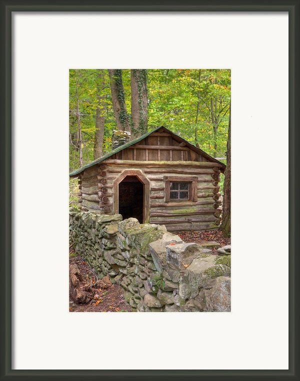 Little Cabin On Little River Framed Print By Charles Warren