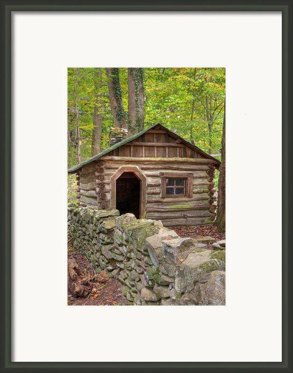 Little Cabin On Little River Framed Print By Charles Warren