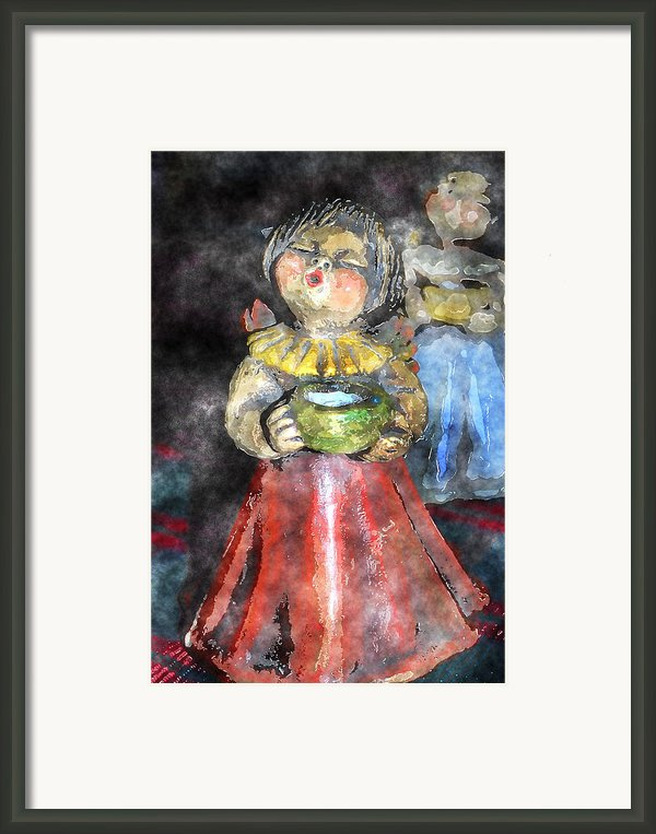 Little Christmas Angel-abstract Framed Print By Patricia Motley