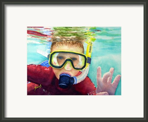 Little Diver Framed Print By Sam Sidders
