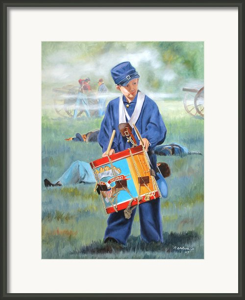 Little Drummer Boy Framed Print By Bob Wilson