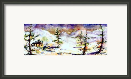 Little House In The Mountains Framed Print By Ginette Fine Art Llc Ginette Callaway