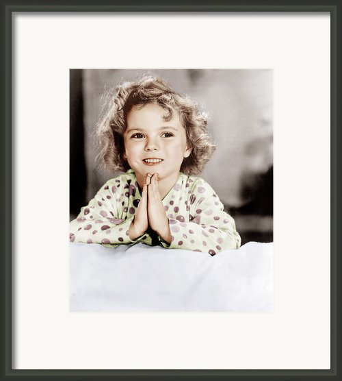 Little Miss Marker, Shirley Temple, 1934 Framed Print By Everett
