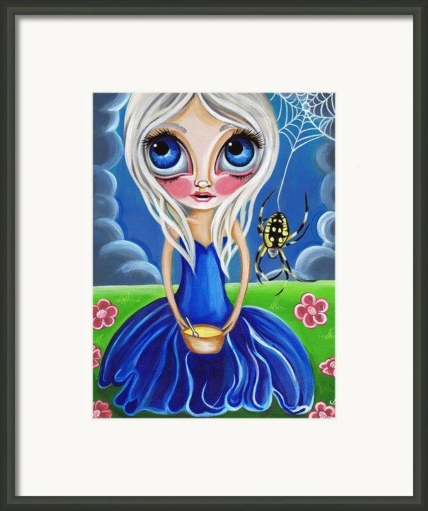 Little Miss Muffet Framed Print By Jaz Higgins