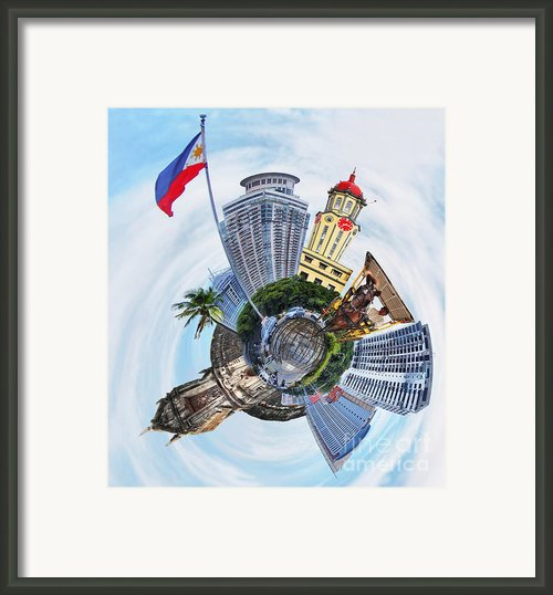 Little Planet - Manila Framed Print By Yhun Suarez