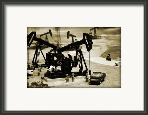 Little Pumpjacks Framed Print By Ricky Barnard