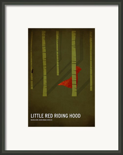 Little Red Riding Hood Framed Print By Christian Jackson