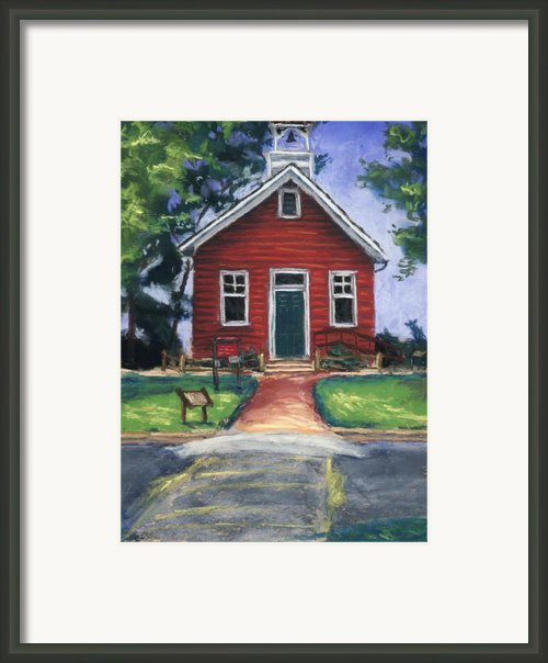 Little Red Schoolhouse Nature Center Framed Print By Christine Kane
