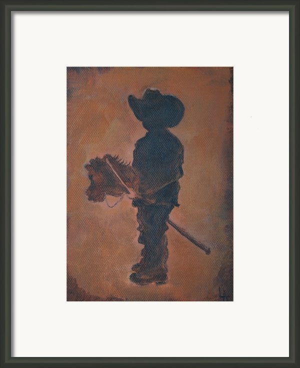 Little Rider Framed Print By Leslie Allen