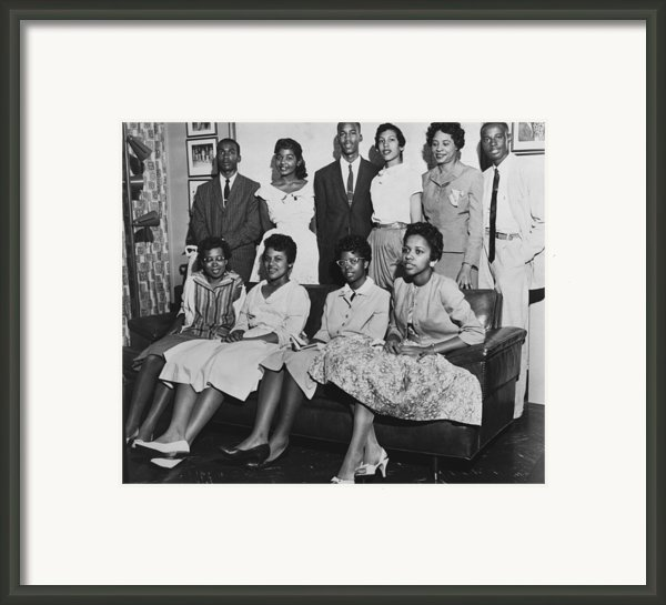 Little Rock Nine And Daisy Bates Posed Framed Print By Everett