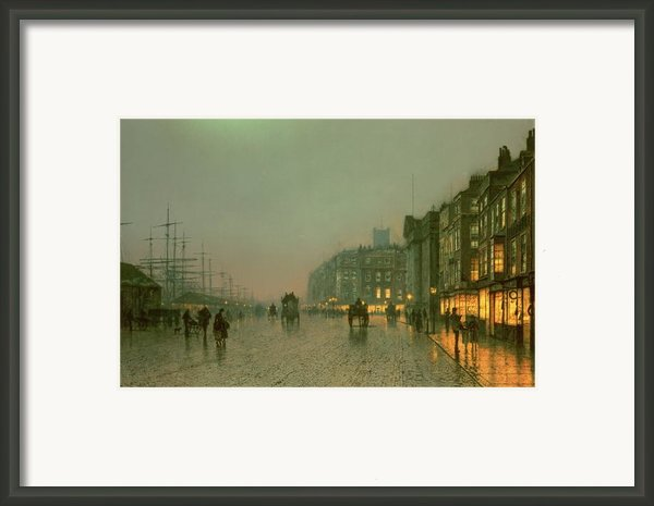 Liverpool Docks From Wapping Framed Print By John Atkinson Grimshaw