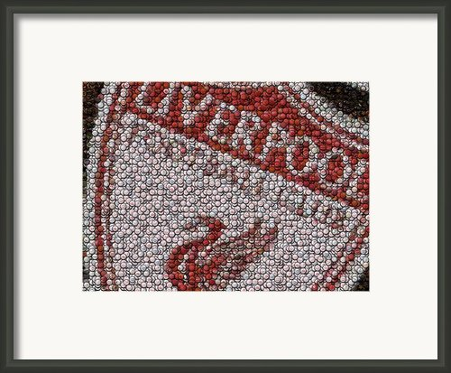 Liverpool Fc Bottle Cap Mosaic Framed Print By Paul Van Scott
