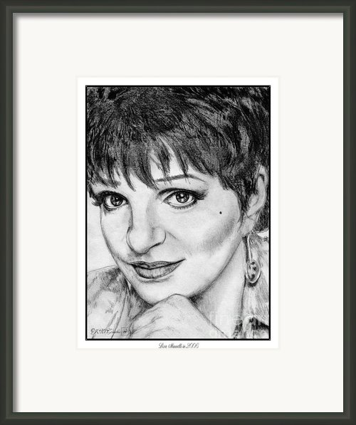Liza Minnelli In 2006 Framed Print By J Mccombie