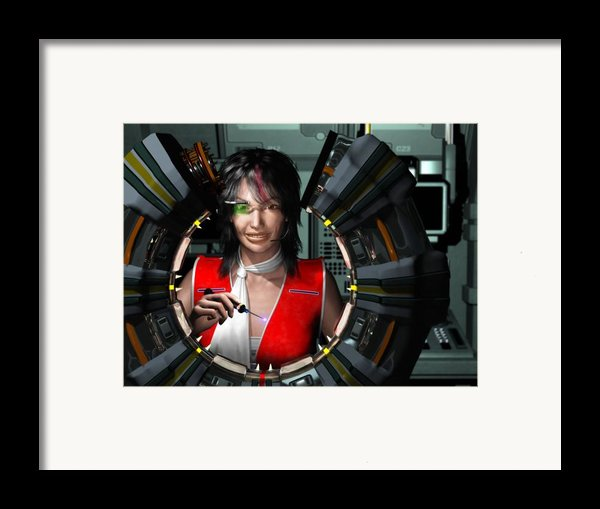 Lizbeth On Board  Framed Print By Jim Coe