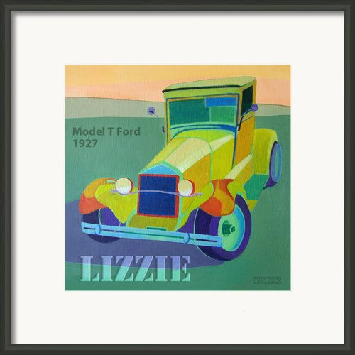 Lizzie Model T Framed Print By Evie Cook