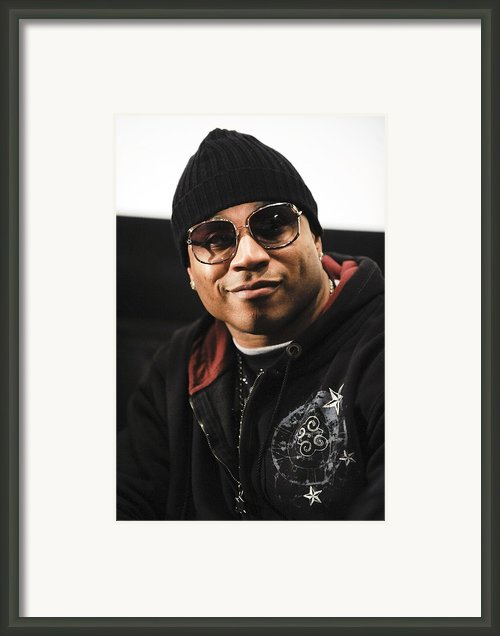 Ll Cool J At The Press Conference Framed Print By Everett