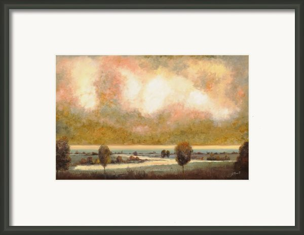 Lo Stagno Sotto Al Cielo Framed Print By Guido Borelli