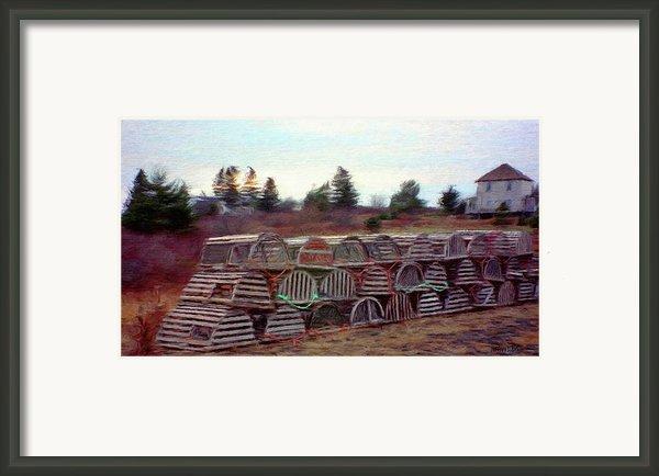 Lobster Traps Framed Print By Jeff Kolker
