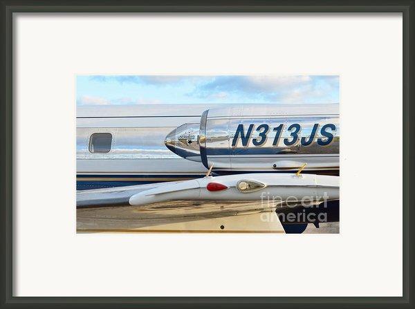 Lockheed Jet Star Engine Framed Print By Lynda Dawson-youngclaus