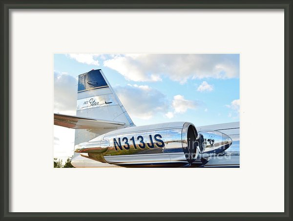 Lockheed Jet Star Framed Print By Lynda Dawson-youngclaus