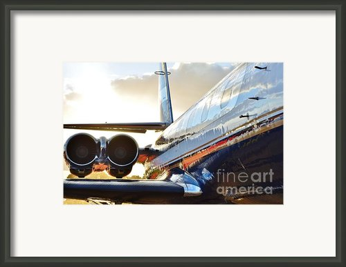 Lockheed Jet Star Side View Framed Print By Lynda Dawson-youngclaus