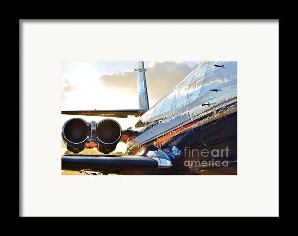 Lockheed Jet Star Side View Framed Print By Lynda Dawson-youngclaus