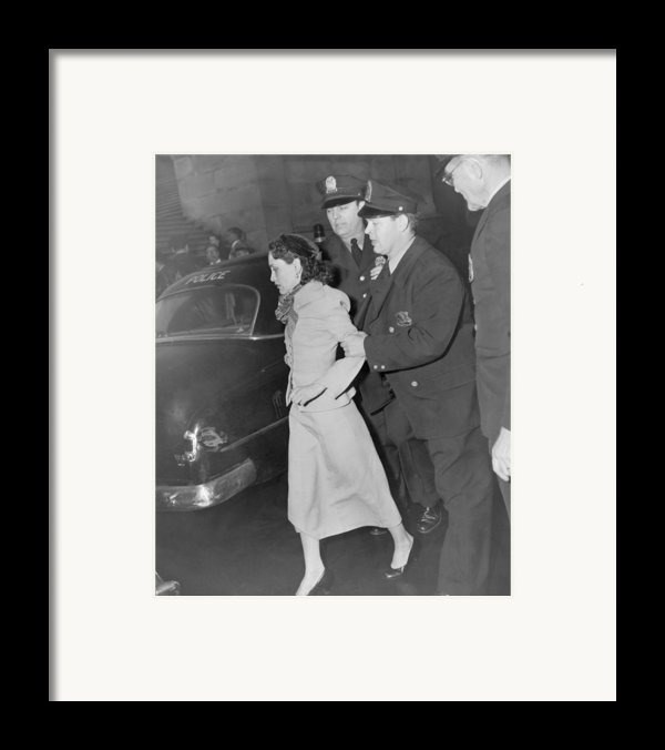 Lolita Lebron B. 1919, Under Arrest Framed Print By Everett