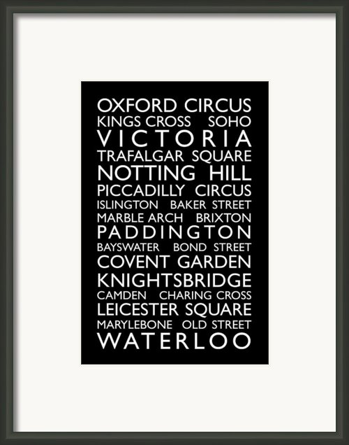 London Bus Roll Framed Print By Michael Tompsett