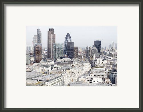 London City View Framed Print By Michael Blann