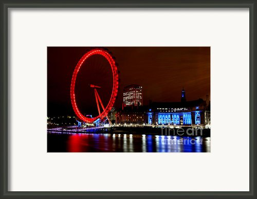 London Eye Framed Print By Heather Applegate