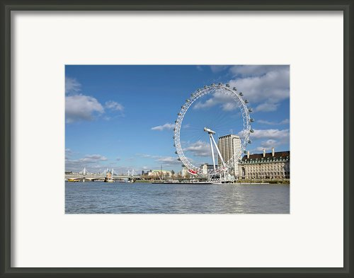 London Eye Framed Print By Paul Biris
