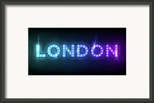 London In Lights Framed Print By Michael Tompsett