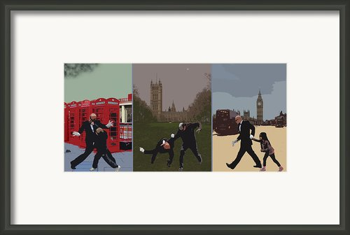 London Matrix Triptych Framed Print By Jasna Buncic
