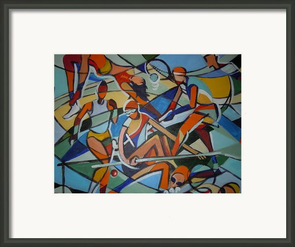London Olympics Inspired Framed Print By Michael Echekoba