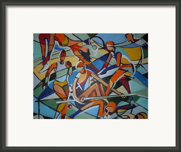 London Olympics Inspired Framed Print By Michael Echekoba