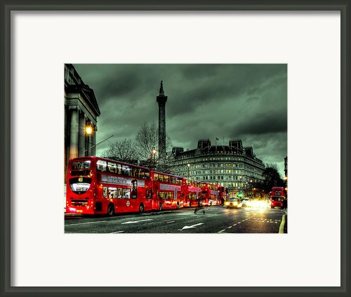 London Red Buses And Routemaster Framed Print By Jasna Buncic